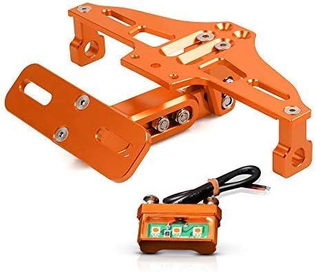 Universal Kennzeichenhalter Mit LED-Licht F/ür BMW S1000R S1000XR XB12R XB12SS XB12SCG F650GS F700GS F800GS F800R F800S F800ST F800GT-Schwarz