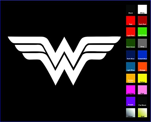 "DC+Comics Products : Wonder Woman Sticker / Vinyl Decal - White 4"" - Justice League, DC Comics"