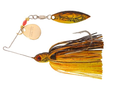 BOOYAH Pond Magic - Sunrise Craw - 3/16 oz - #0 Colorado/#3 Willow (Best Bait For Bass And Catfish)