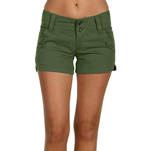 (Workout Lounge Shorts for Women,WANQUIY Women's Active Drawstring Lounge Bermuda Shorts Yoga Jogger Shorts Army Green )