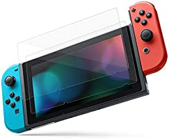 MoKo Screen Protector for Nintendo Switch(2 Pack), Tempered Glass HD Clear Anti-Fingerprint & Anti-Bubble Film for...