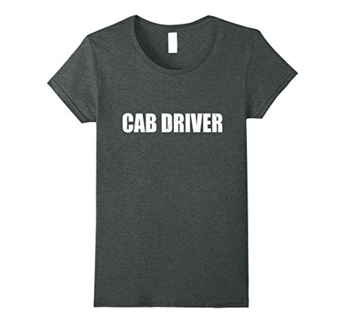 Cab Driver Costume (Womens Cab Driver T Shirt Halloween Costume Funny Cute Distressed XL Dark Heather)