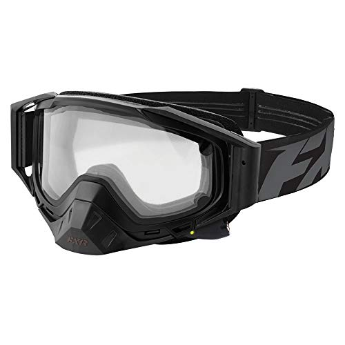 FXR Core Electric Snowmobile Goggle with Clear Lens