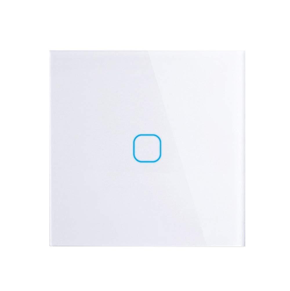 interrupteur tactile de la m/ême mani/ère quune passerelle panneau en verre en cristal blanc ToomLight Interrupteur tactile europ/éen Stanard /écran tactile europ/éen