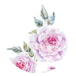 alfombrilla de ratón rosas suaves - ronda - 20cm
