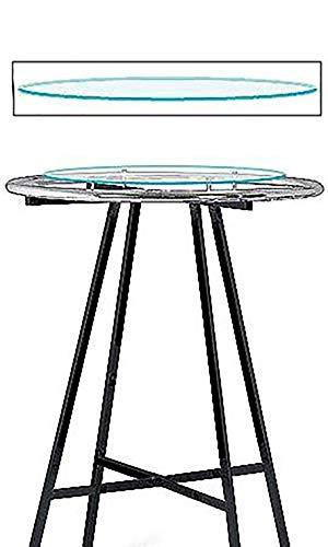 """SSWBasics Glass Round Clothing Rack Topper (30"""" Diameter Tempered Glass) ()"""