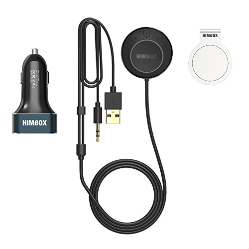 iClever Bluetooth Car Receiver, Himbox Plus Wireless Hands-free Car Kits with Built-in Mic, 3 USB Car Charger & Magnetic Base, Echo and Noise Reduction, Multi-Point Access, 3.5mm Aux Cable by iClever (Image #9)