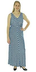 Calvin Klein Women's Striped Sleeveless Maxi Multi 2