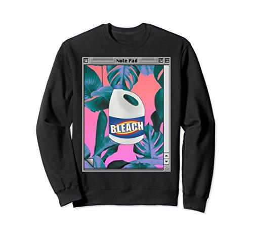 Unisex Vaporwave Aesthetic Bleach Sweatshirt Large Black (Sweatshirt Bleach)