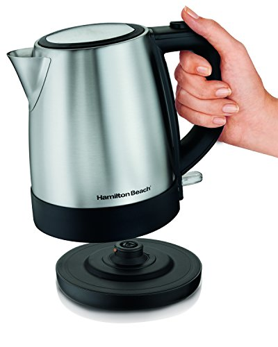 Review Hamilton Beach (40998) Electric Kettle, Tea, Coffee, 1.7 Liter, Stainless Steel
