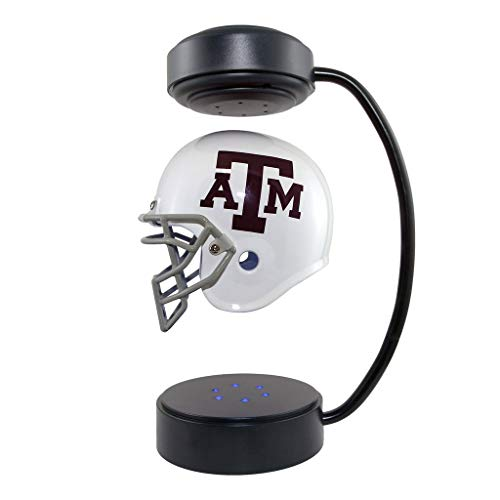Texas A&M Aggies NCAA Hover Helmet - Collectible Levitating Football Helmet with Electromagnetic Stand ()