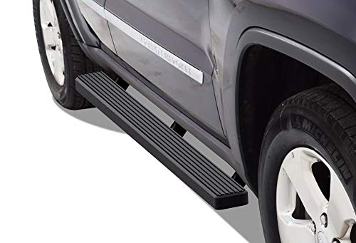 - APS iBoard (Black Powder Coated 4 inches) Running Boards | Nerf Bars | Side Steps | Step Rails for 2011-2019 Jeep Grand Cherokee Sport Utility 4-Door (Excl. SRT and Trail Hawk Models)
