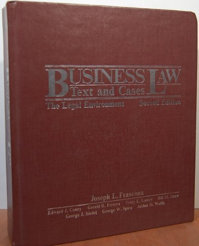 Business law: Text and Cases, the Legal Environment