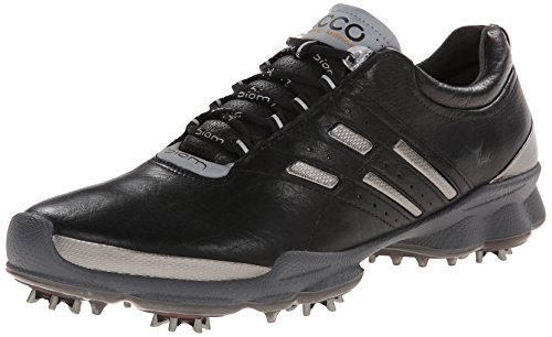 ECCO Men's Biom Golf Shoe, Black/Steel, 44 EU/10-10.5 M US