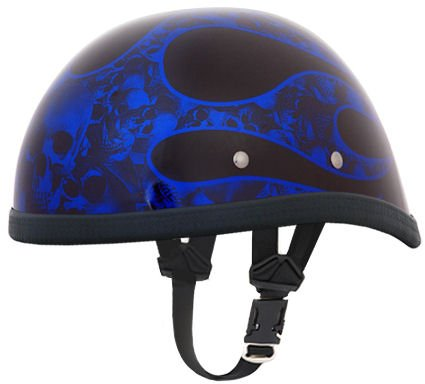 Motorcycle Helmet With Flames - 6