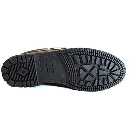 Marrón Marrón Línea Apache Zapatos Cordón qW7Ugtff