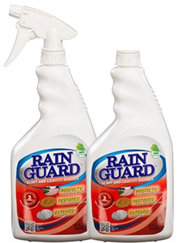(Rainguard Scuff & Graffiti Barrier Prevents Paint Graffiti, Scuffs, Permanent Marker from Bonding to Painted/Unpainted Surfaces - A Budget Friendly Solution to Graffiti (Case of 8-32 oz Bottles))