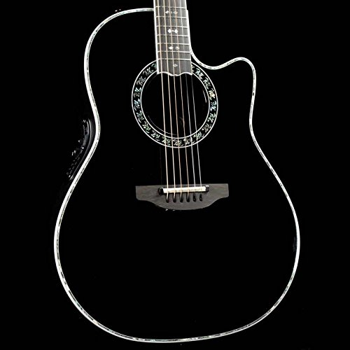 Ovation C2079LX-5 LX Custom Legend Acoustic Electric Guitar, Deep Contour Body, Black Gloss -