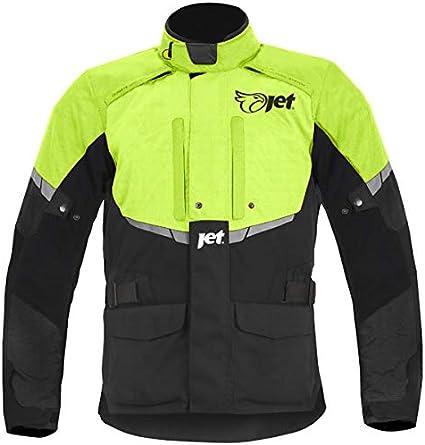 3XL , Gris JET Chaqueta Moto Hombre Textil Impermeable con Armadura Tourer EU 56-58