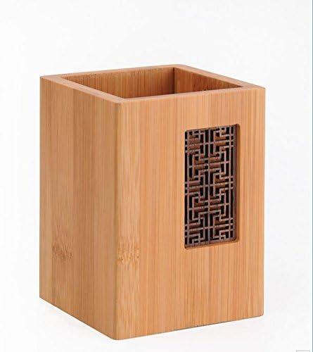 Creative chino pen Vintage contenedor caja de tarjetas de bambú ...