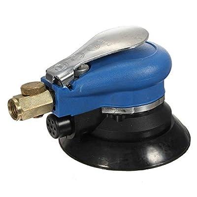 dipshop 6 Inch Vacuum Polisher Air Random Orbital Palm Car Polisher Sander Sanding Pad