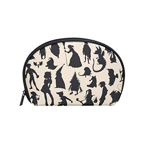 LORVIES Hallowen Characters Shadow Cosmetic Pouch Clutch Makeup Bag Travel Organizer Case Toiletry Pouch for Women ()