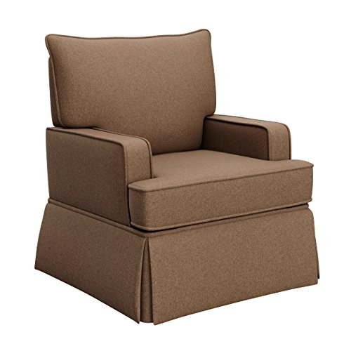 Chestnut Chair Upholstered - Storkcraft Davenport Upholstered Swivel Glider, Chestnut Cleanable Upholstered Comfort Rocking Nursery Swivel Chair