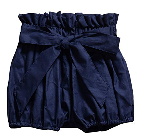 - AYIYO Baby Infant Toddler Girls Bowknot Ruffle Bloomers Shorts (100(3T)(for Height:35.4