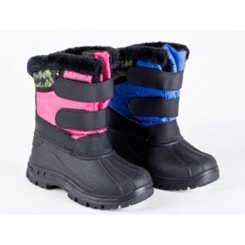 Invierno Niños Botas – Con Cierre De Velcro cálido Forro Agua abwe Soldadura en rosa y