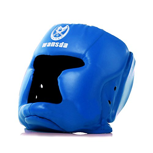 Replacement Blue Boxing and Jousting Helmet and Headgear with Reinforced Seams for Interactive Inflatable Fighting Arena or Ring Games, Universal Size ()