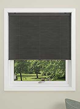 Black DEBEL Pleated Blind 120 x 160 cm Touch