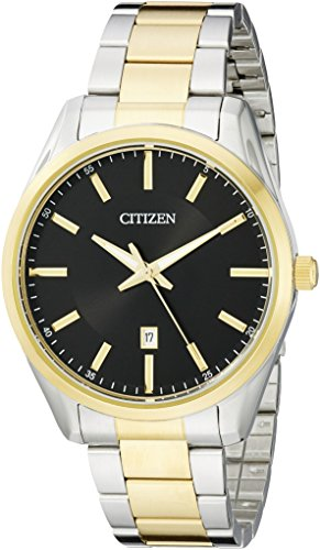 Citizen Men's Quartz Two-Tone Bracelet Watch with Date, BI1034-52E
