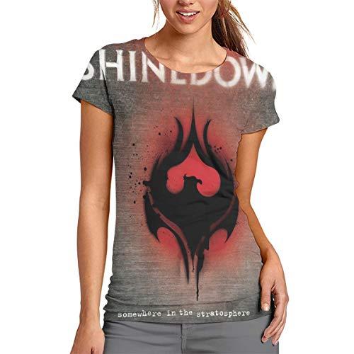 StephanDHampton Shinedown 3D Printed Sports Women's Round Neck Short Sleeve Tshirts S ()