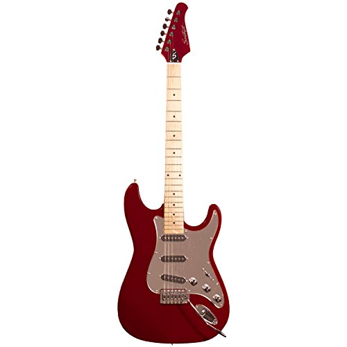 Sawtooth ST-ES-FBRC-BEG ES Series ST Style Electric Guitar Beginner's Pack, Fire Brick Red with Chrome Pickguard - Image 3