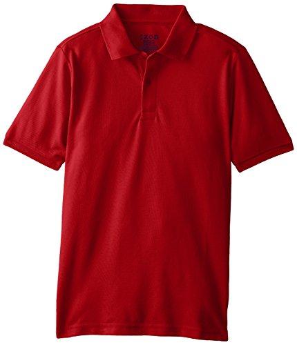 IZOD Little Boys' Husky Short Sleeve Uniform Polo, Red, Large by IZOD