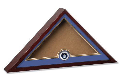 Allied Frame US Air Force Internment American Burial Flag Display Case with Official Air Force Medallion