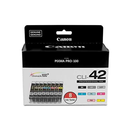 Canon CLI-42 8 PK Value Pack Ink, 8 Pack (Canon Pixma 100 Black Ink)