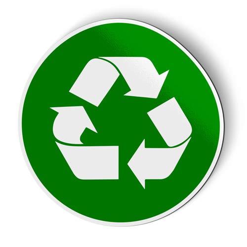 AK Wall Art Recycle Sign Green Circle - Magnet - Car Fridge Locker - Select Size