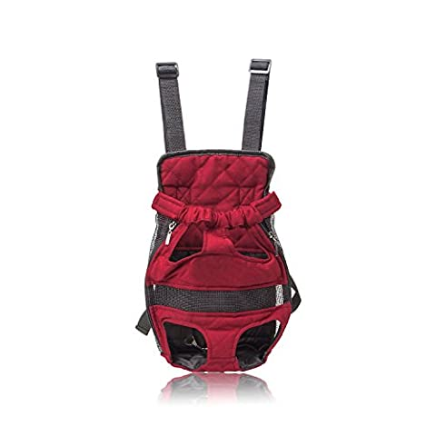 Pettom Front Cat Dog Backpack Travel Bag Carrier Free Your Hands Lightweight and Safe Medium - Gravity 16 Inch Bike