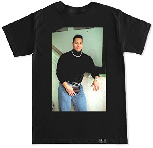 Ftd Apparel Mens The Rock Tbt T Shirt   Large Black