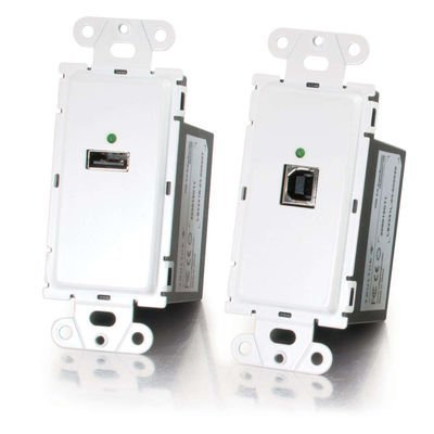 C2G/Cables to Go 53877 TruLink  USB 2.0 Over Cat5 Superbooster Wall Plate Kit by C2G/ Cables To Go