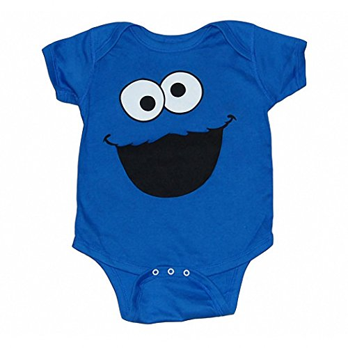 Sesame Street Cookie Monster Face Infant Onesie Romper-18 Months for $<!--$12.99-->