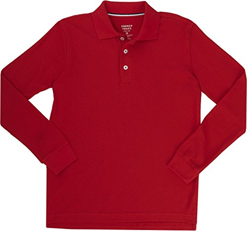 French Toast School Uniform Boys Long Sleeve Pique Polo Shirt