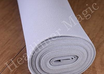 "Light Gray Auto Headliner 3/16"" Foam Backing Fabric Material 72"" X 60"" from Headliner Magic"