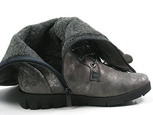 Softwaves 6-94-33 Damen Schuhe Stiefeletten Stiefel Boots Grau