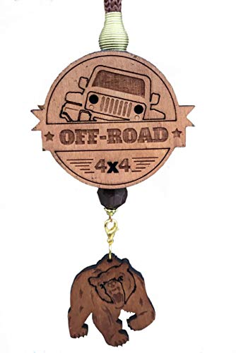 AROMA BAR car air freshener Off Road Wooden case Essential Oil Kills Bad Smell in The car, Home and Office eco-Friendly Product, Easy to use, Versatile, Original Gift, Durable коричневый, черный