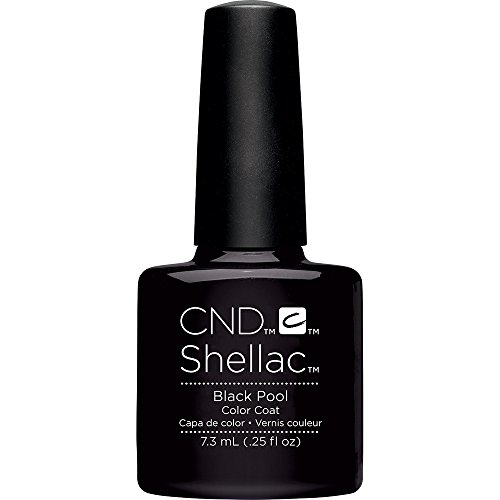 Creative Nail Shellac Black pool, 0.25 Fluid Ounce