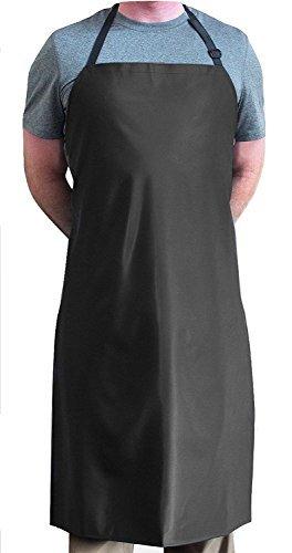 Tuff Apron Black Heavy Duty Waterproof with Neck Adjuster Durable Long Kitchen Dishwashing Bib 41