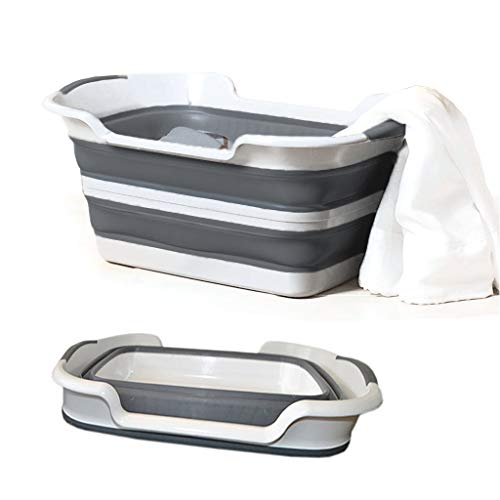 ℊeneral Free Post (Shipped by US) 0-6 Years Collapsible Wash Drianer Basket Foldable Storage Container Baby Bathtub Multi Folding Children's Tub Folding Laundry Hamper