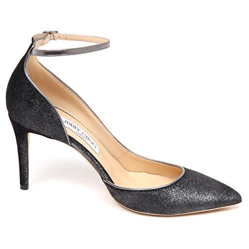 Shoe Dark Scuro Scarpe Grey Decollete Velvet Grigio Metallic Jimmy Choo Donna Woman Metallizzato E6562 ZAzTqwwaH